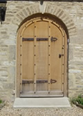 Anvil Holiday Cottage in Biddestone - magnificent front door